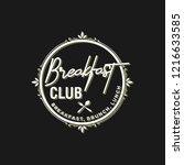 breakfast logo design | Shutterstock .eps vector #1216633585