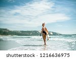 beautiful sexy and sporty girl... | Shutterstock . vector #1216636975