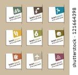 vintage labels of life man over ... | Shutterstock .eps vector #121664398