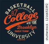 college basketball print    Shutterstock .eps vector #1216652392
