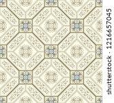 vintage seamless pattern in... | Shutterstock .eps vector #1216657045