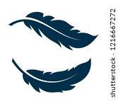 bird feather simple vector    Shutterstock .eps vector #1216667272