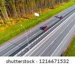 aerial view of highway. cars... | Shutterstock . vector #1216671532