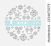 blockchain crypto vector round... | Shutterstock .eps vector #1216673275
