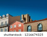 traditional buildings with... | Shutterstock . vector #1216674325