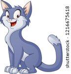 cartoon cat. vector... | Shutterstock .eps vector #1216675618