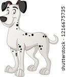 cartoon dog. vector... | Shutterstock .eps vector #1216675735
