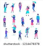 vector people friends character.... | Shutterstock .eps vector #1216678378