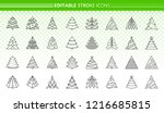 christmas tree thin line icon... | Shutterstock .eps vector #1216685815