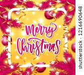 merry christmas  greeting card ....   Shutterstock .eps vector #1216690648