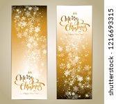 christmas golden background.... | Shutterstock .eps vector #1216693315