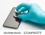 phone repair and service... | Shutterstock . vector #1216696375