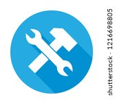 services flat icon with long... | Shutterstock . vector #1216698805