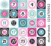 advent calendar. set of cards...   Shutterstock .eps vector #1216705012