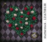alice in wonderland background. ... | Shutterstock . vector #1216708138