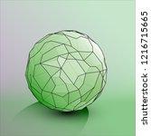 soccer ball isolated on white... | Shutterstock .eps vector #1216715665