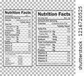 nutrition facts information.... | Shutterstock .eps vector #1216720525