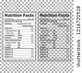 nutrition facts information.... | Shutterstock .eps vector #1216720528