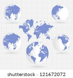 world map | Shutterstock .eps vector #121672072
