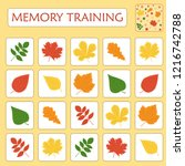 memory game for preschool... | Shutterstock .eps vector #1216742788