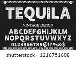 font script typeface vector... | Shutterstock .eps vector #1216751608