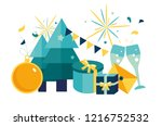 vector illustration small... | Shutterstock .eps vector #1216752532