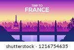 big france bridge on the... | Shutterstock .eps vector #1216754635