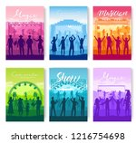 musical festival on outdoor air ... | Shutterstock .eps vector #1216754698