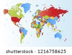color world map vector | Shutterstock .eps vector #1216758625