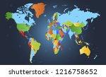 color world map vector | Shutterstock .eps vector #1216758652