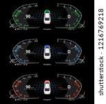 realistic car dashboard. set | Shutterstock .eps vector #1216769218