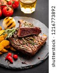 steak beef. beef steak medium... | Shutterstock . vector #1216773892
