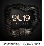 new year 2019 greeting card... | Shutterstock .eps vector #1216777045