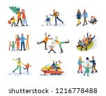 winter family activities ... | Shutterstock .eps vector #1216778488