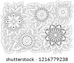 coloring book for adult and... | Shutterstock .eps vector #1216779238