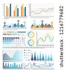 flowcharts with information in... | Shutterstock .eps vector #1216779682