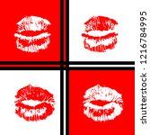 open mouth woman lips pop art... | Shutterstock .eps vector #1216784995