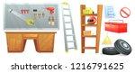 furniture for garage mechanic.... | Shutterstock .eps vector #1216791625