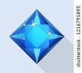 shiny sapphire icon. flat... | Shutterstock . vector #1216791895