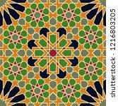 seamless arabic pattern. vector ...   Shutterstock .eps vector #1216803205