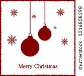 christmas greeting card. vector ... | Shutterstock .eps vector #1216808398
