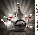 bowling ball crashing into the... | Shutterstock . vector #121680952