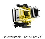 modern yellow camera for... | Shutterstock . vector #1216812475