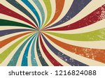 retro grunge starburst or... | Shutterstock .eps vector #1216824088