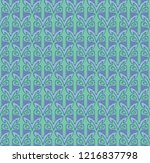 seamless pattern with repeated...   Shutterstock .eps vector #1216837798