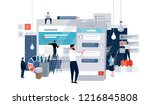 vector flat illustration of... | Shutterstock .eps vector #1216845808