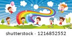 vector ilustration of colorful... | Shutterstock .eps vector #1216852552