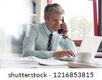 senior business man in his... | Shutterstock . vector #1216853815