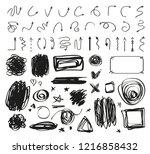 abstract arrows. grunge... | Shutterstock .eps vector #1216858432