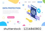 digital data protection ... | Shutterstock .eps vector #1216860802